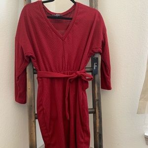 Red fall/winter dress from Lulus